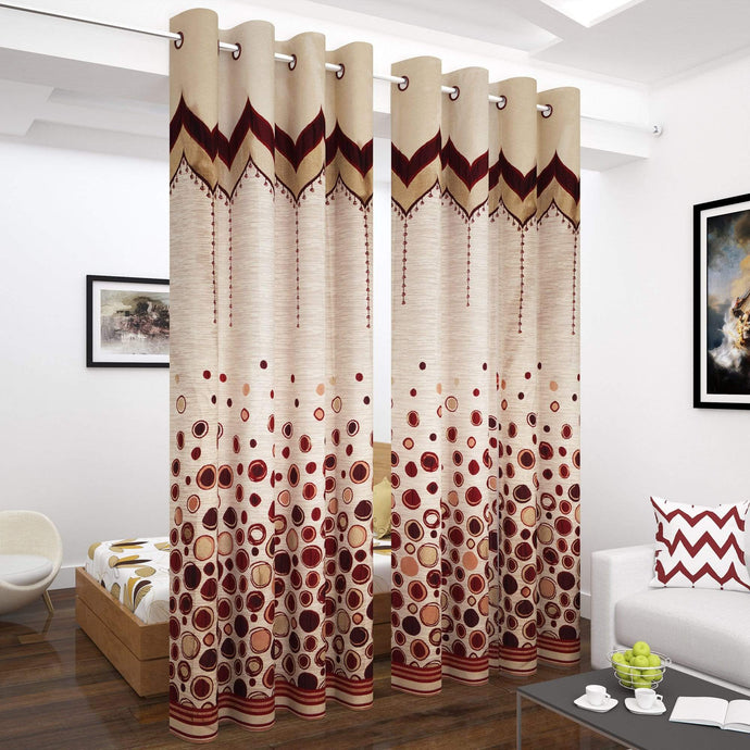 Story@Home 1 Pc Jacquard Long Door Curtain - 9 Feet Story@Home
