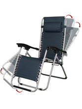 Load image into Gallery viewer, Zero Gravity Comfort Adjustable Folding Recliner Folding Chair - Navy Blue Story@Home