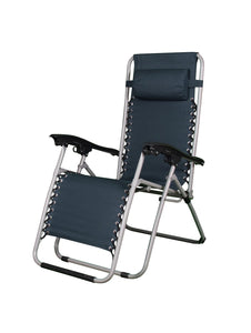 Zero Gravity Comfort Adjustable Folding Recliner Folding Chair - Navy Blue Story@Home