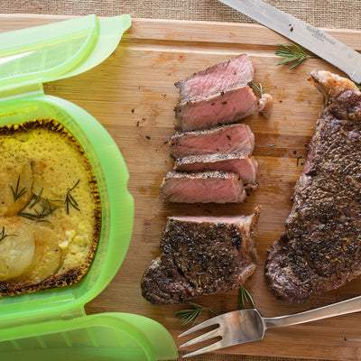 Seared Strip Steaks