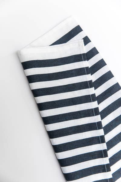 Tea Towel, Navy Stripe