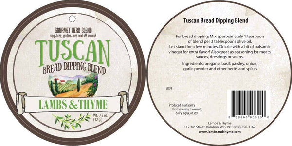 Lambs & Thyme - Tuscan Bread Dipping Blend