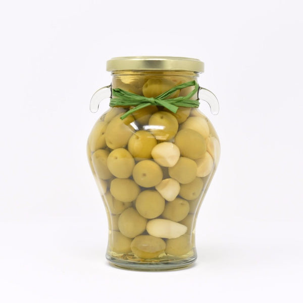 Whole Manzanilla Olives with Rosemary and Garlic