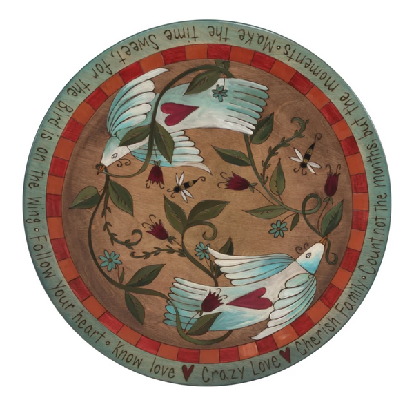 Sticks Love Birds Lazy Susan