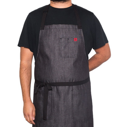 Abalone Black Kaihara Denim Apron