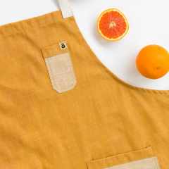 Carolina Mustard Denim Apron