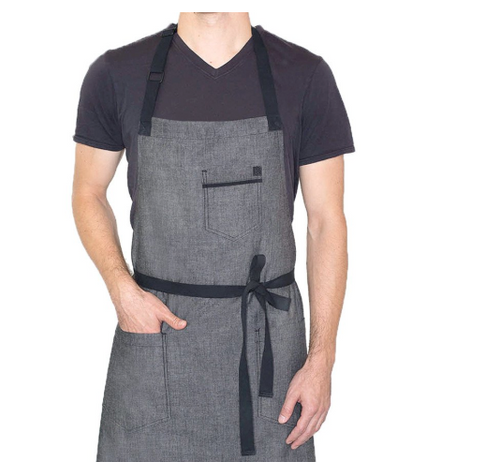 Peppercorn Grey Crosshatch Apron