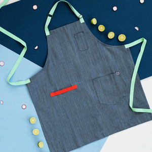 Adele Blue Denim Apron