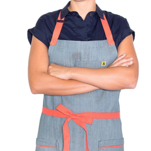 Addy Blue Denim Apron