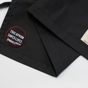 (Product) Red Classic Grey Apron