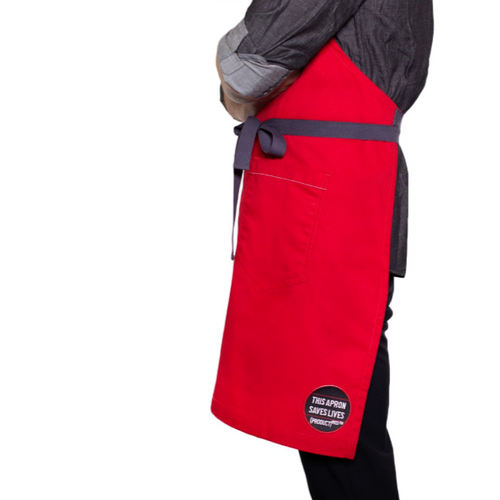 (Product) Red Classic Red Apron