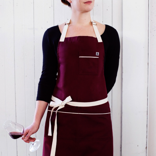 Bordeaux Burgundy Apron