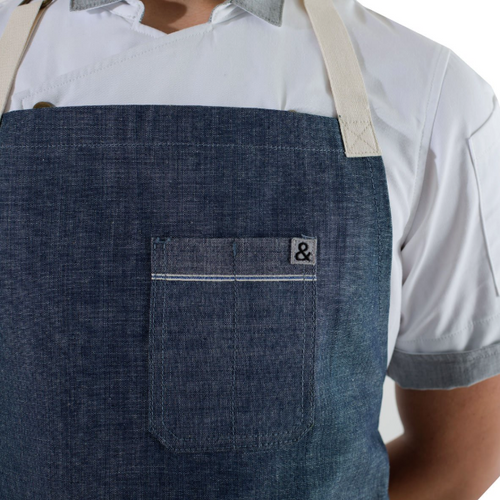 Animal Light Blue Selvedge Apron
