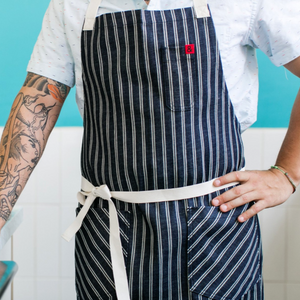Dearborne Dark Denim Stripe Apron