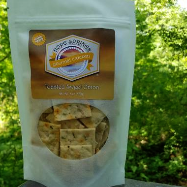 Toasted Sweet Onion Crackers