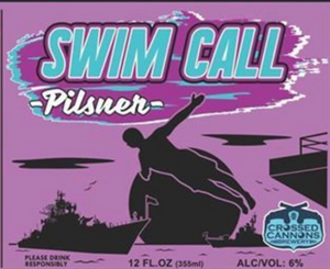 Swim Call Pilsner, Crossed Cannons