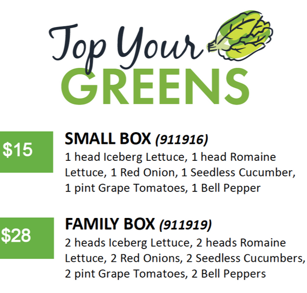 produce box top your greens