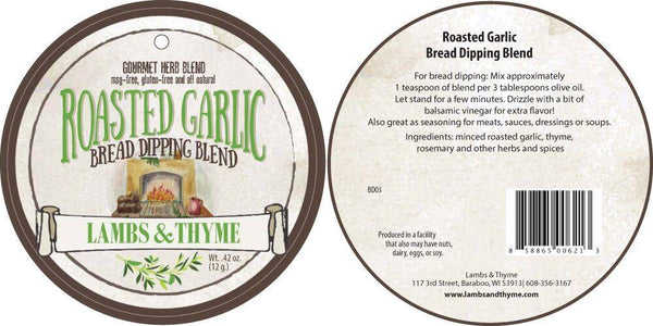 Lambs & Thyme - Roasted Garlic Bread Dipping Blend