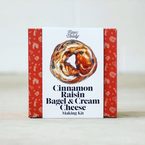 Cinnamon Raisin Bagel and Cream Cheese Kit