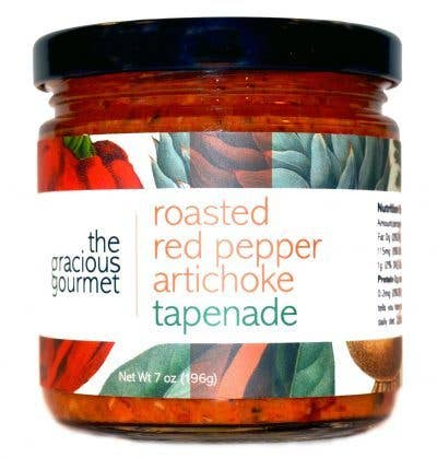 The Gracious Gourmet - Roasted Red Pepper Artichoke Tapenade