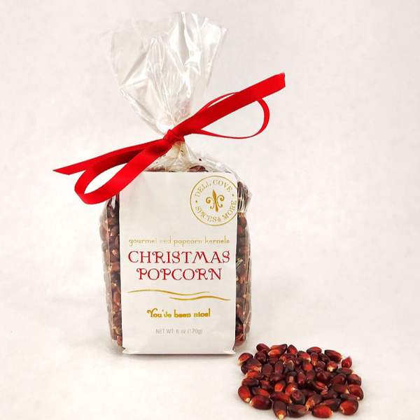 Dell Cove Spices & More Co. - Christmas Popcorn - Red Reindeer Noses