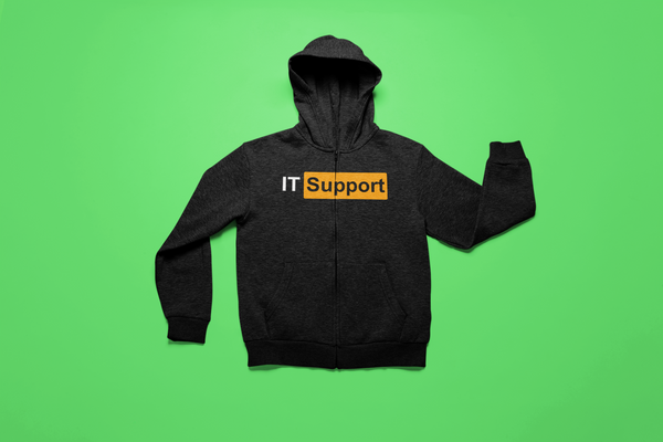 IT Support Hub -  Full Zip Hooded Sweatshirt