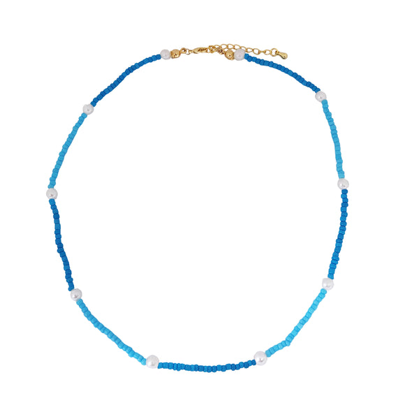 Blue Poppy Choker (Personalizable)