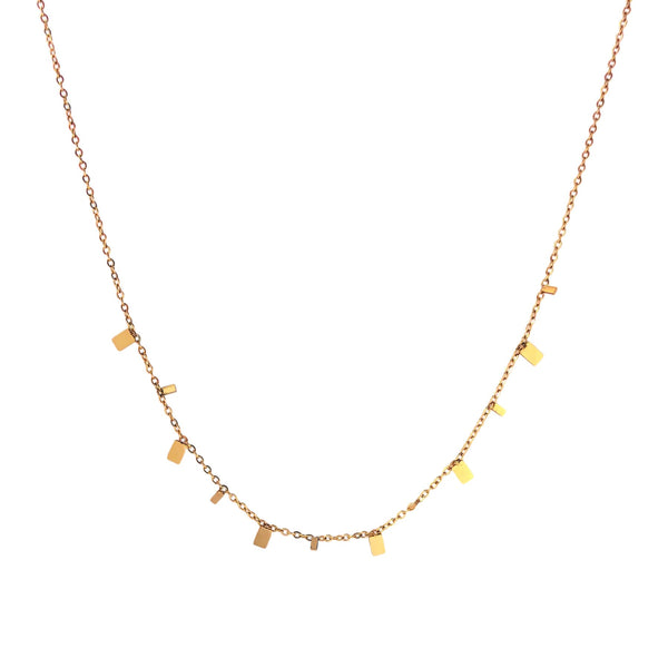 Golden Squares Necklace