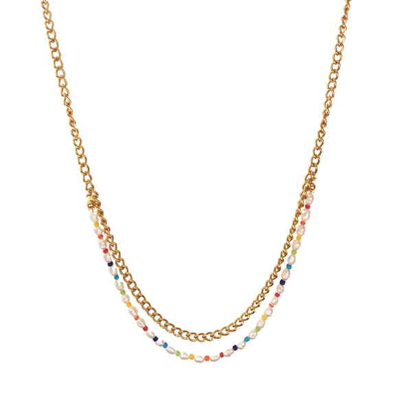 Rainbow Double Necklace