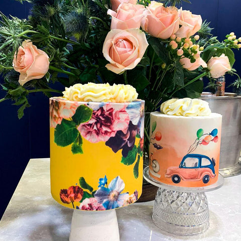 Signature Style Cakes - Modern Florals and Traffic Jam