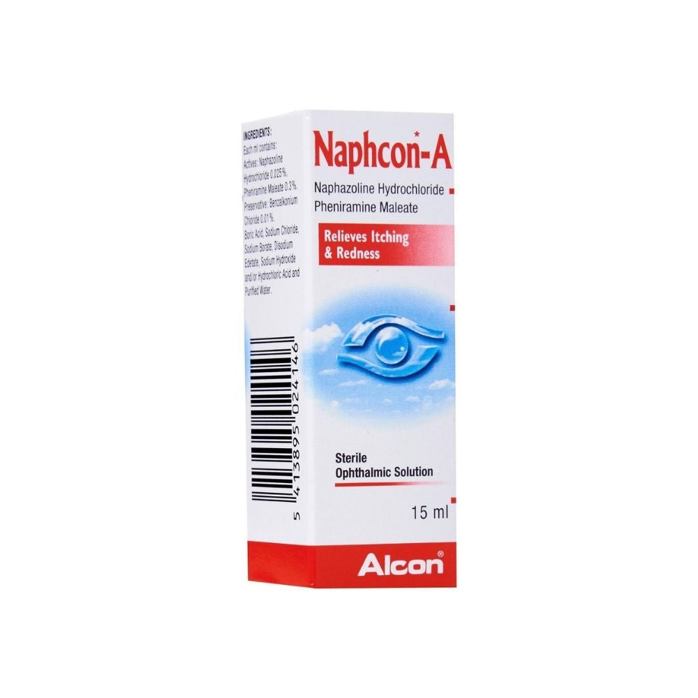 Naphcon - A for child Eye Drops, a dual-action formula is clinically proven for relief from allergy eyes, itching and redness of the eye.