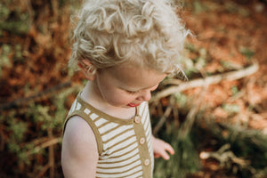 Slub Linen Playsuit - Harvest Gold / Oat