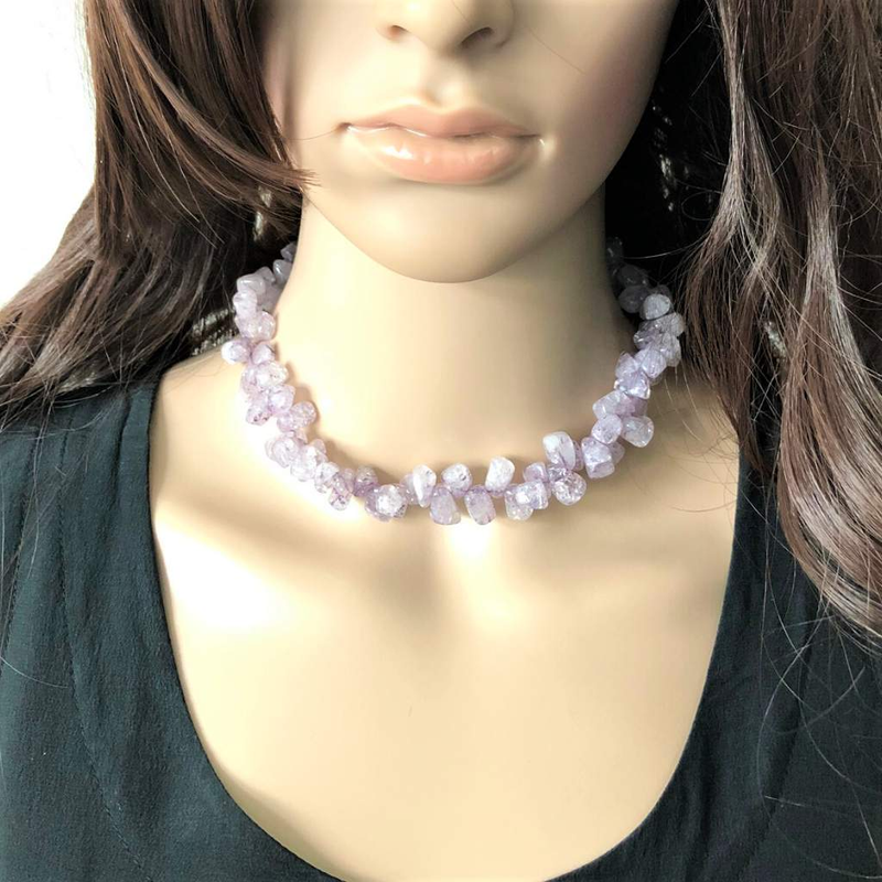 Candy Crush Purple Quartz Necklace - JaeBee Jewelry