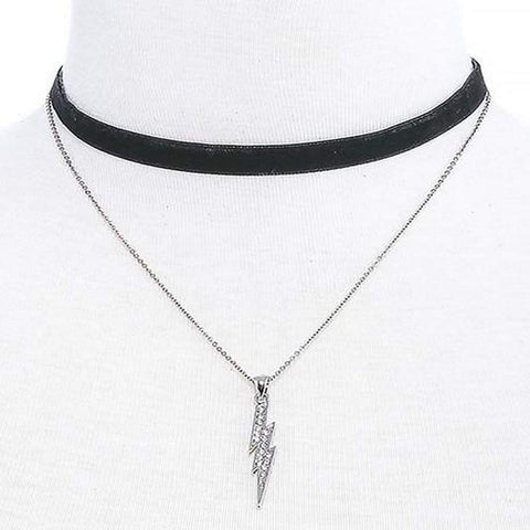 Lightening Bolt Chain Layered Choker