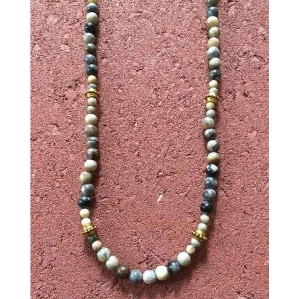 Mens Picasso Beaded Necklace - JaeBee Jewelry
