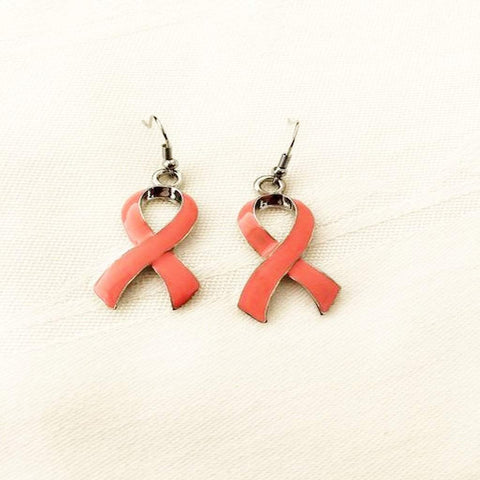 Pink Ribbon Breast Cancer Earrings