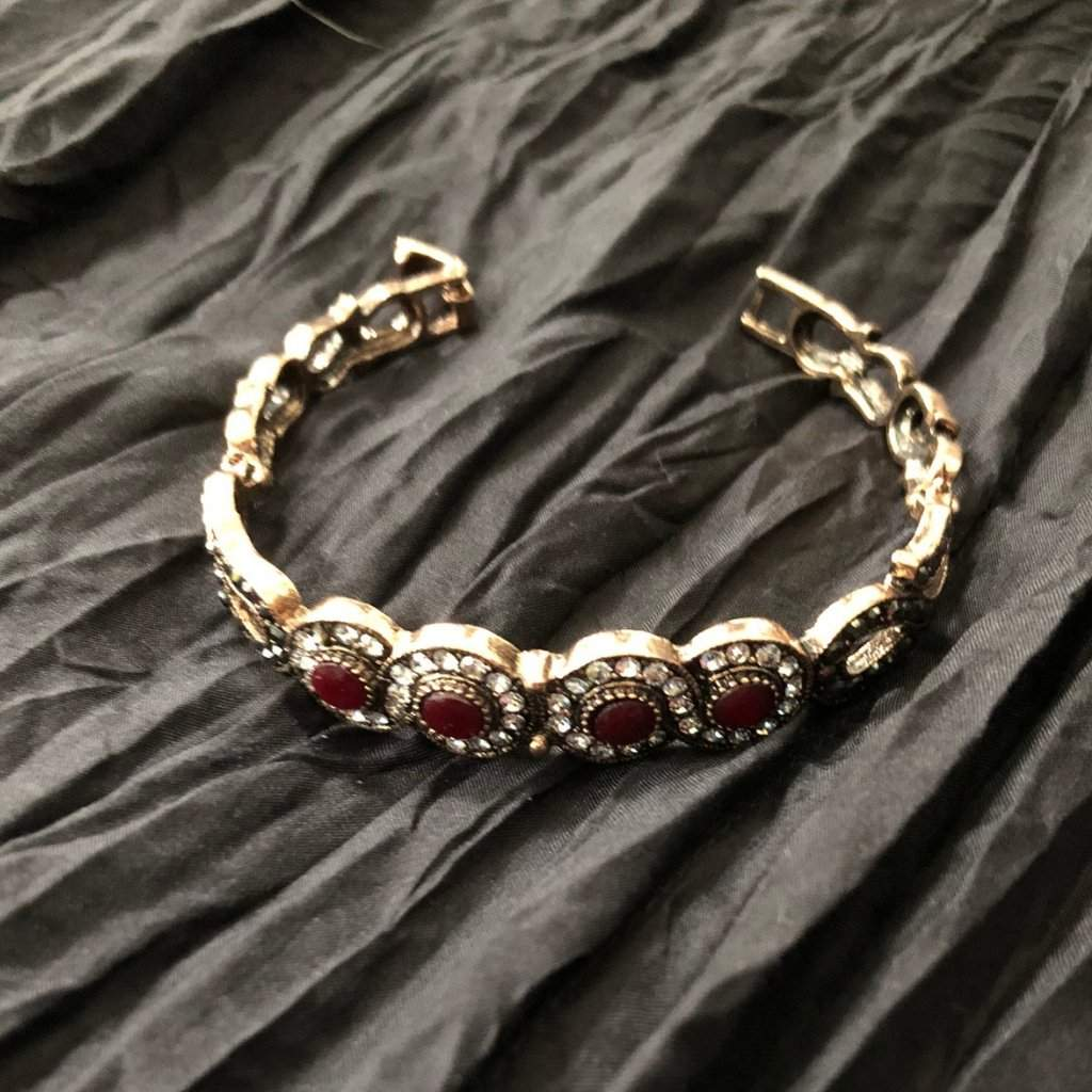 Red Crystal Gold Bracelet