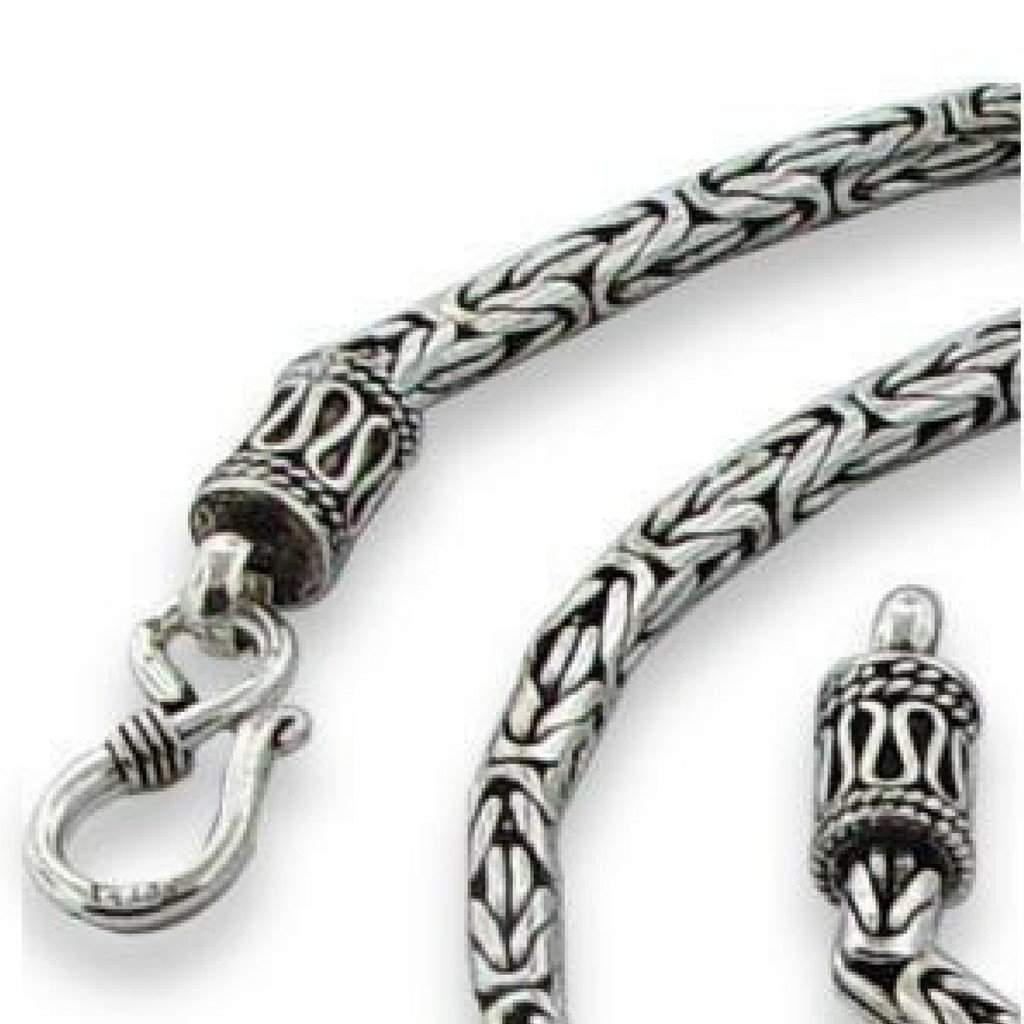 bali sterling necklace silver classic pin men chain forziani in byzantine s