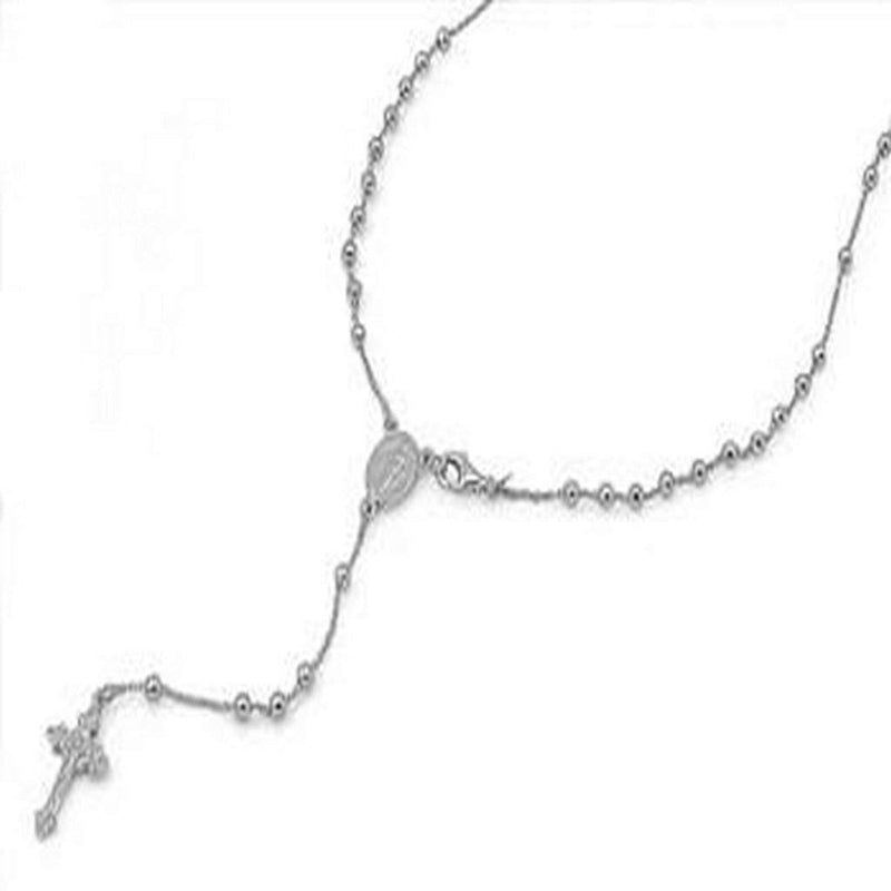 Sterling Silver Rosary Necklace - JaeBee Jewelry