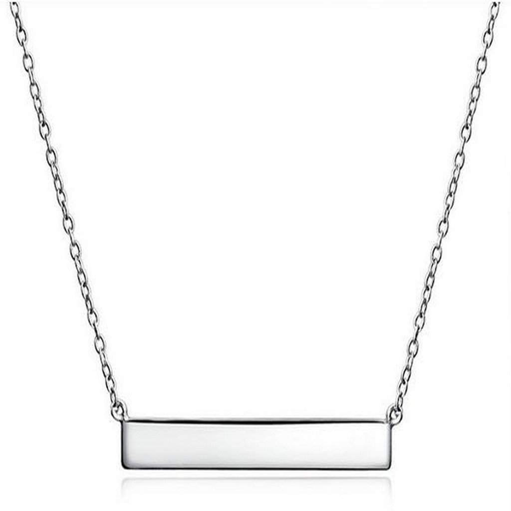 Sterling Silver Bar Necklace - JaeBee Jewelry