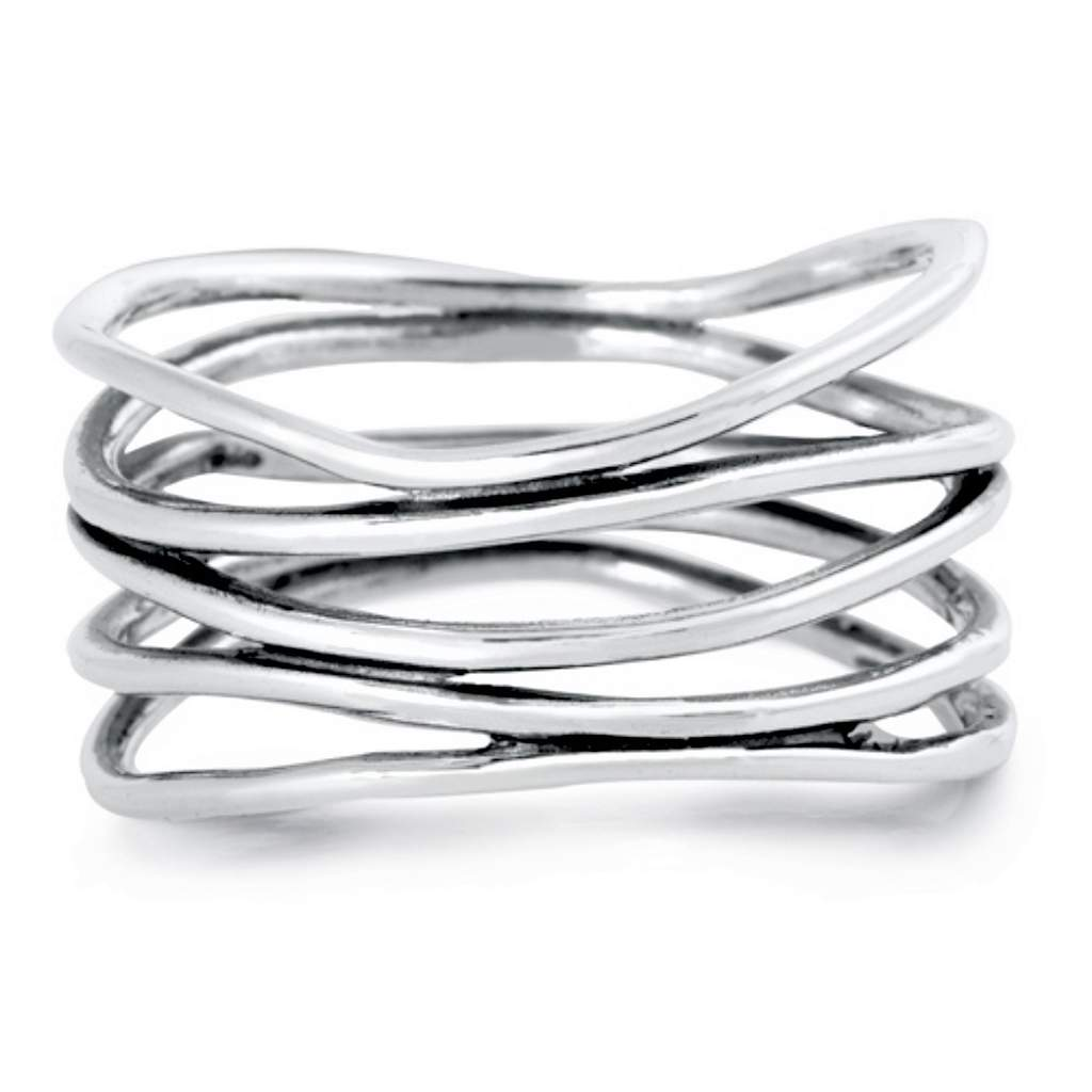 Sterling Silver Multi Wrap Wire Ring