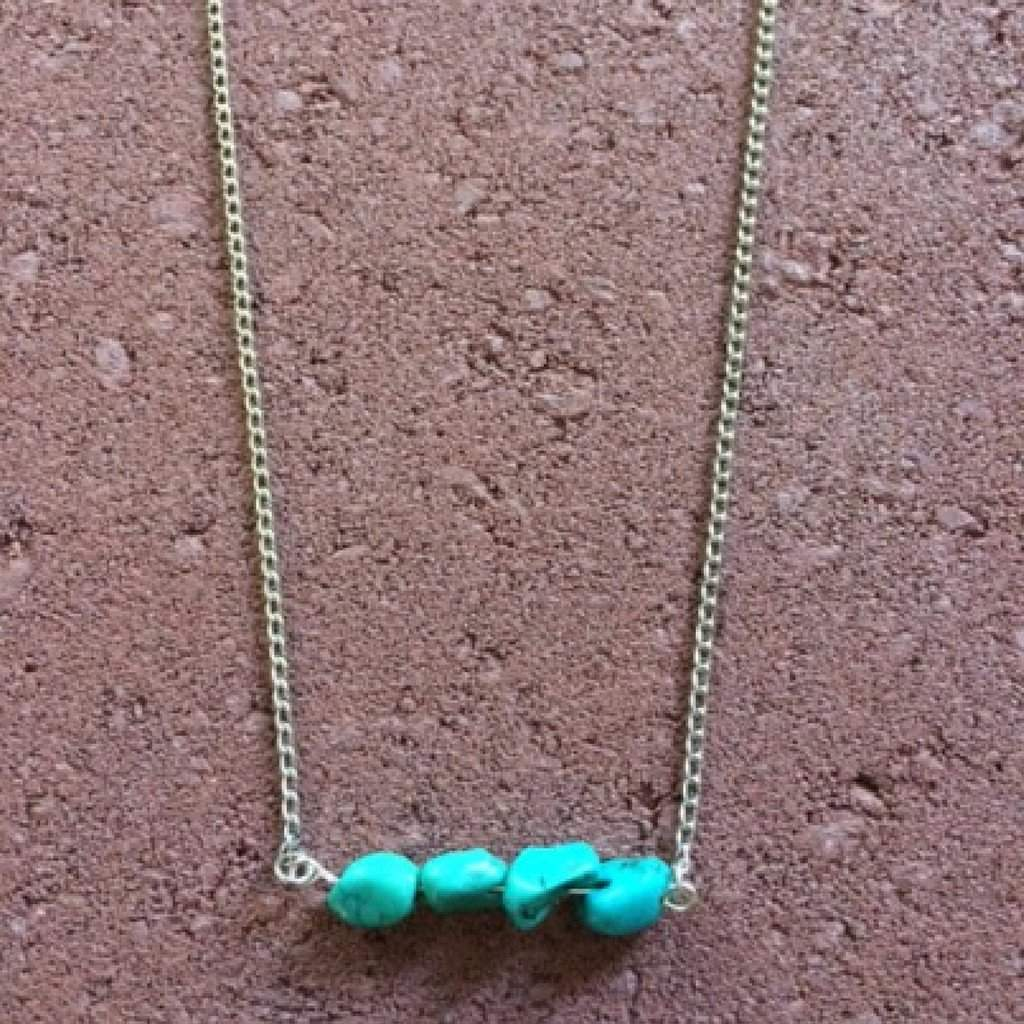 Turquoise Bar Necklace - JaeBee Jewelry