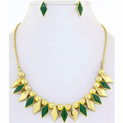 Green and Gold Diamond Necklace