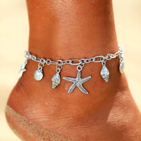 Silver Seashell Chain Anklet - JaeBee Jewelry