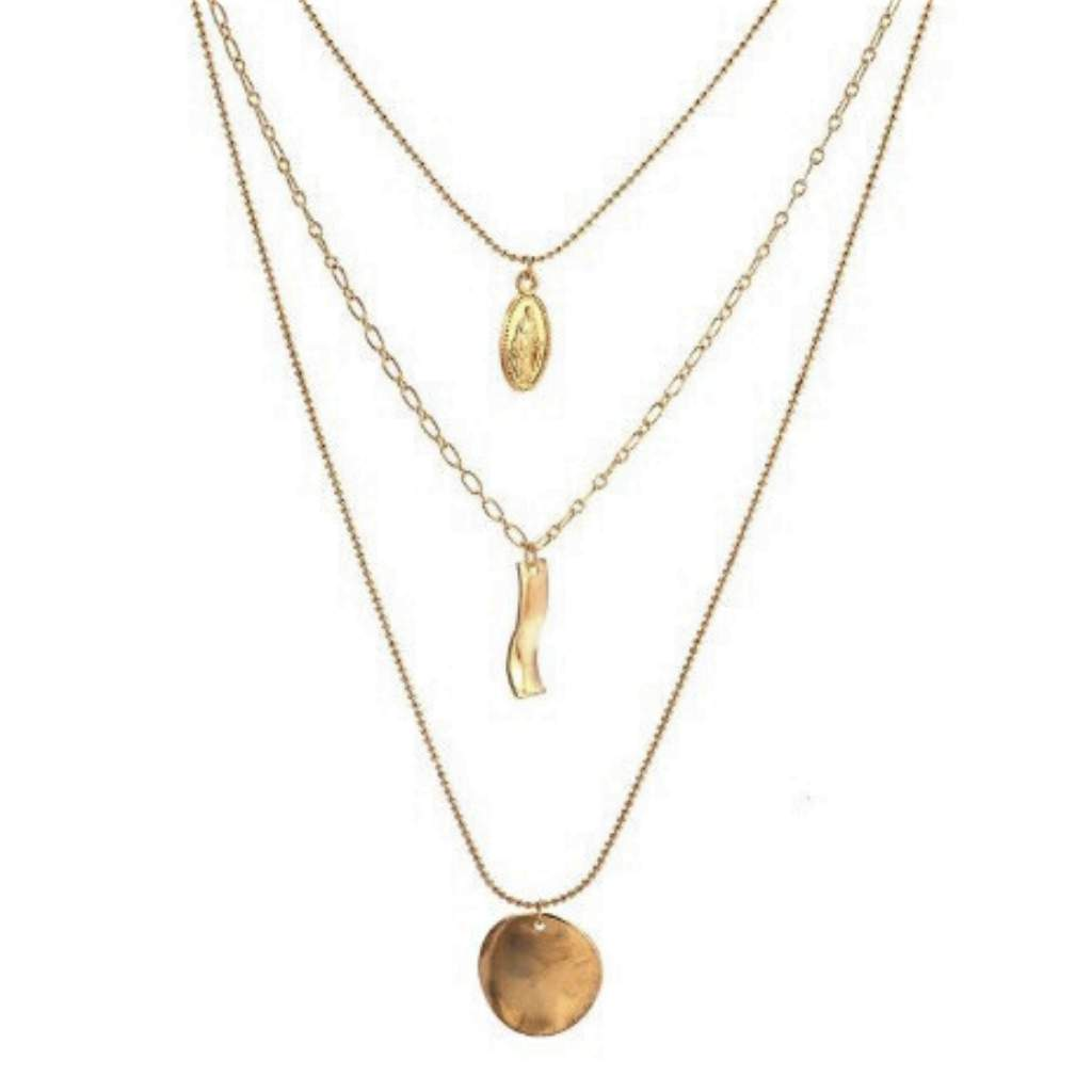 Gold Layered Virgin Mary Chain Necklace - JaeBee Jewelry