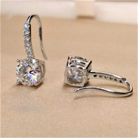 Sterling Silver and Cubic Zirconia Drop Earrings - JaeBee Jewelry