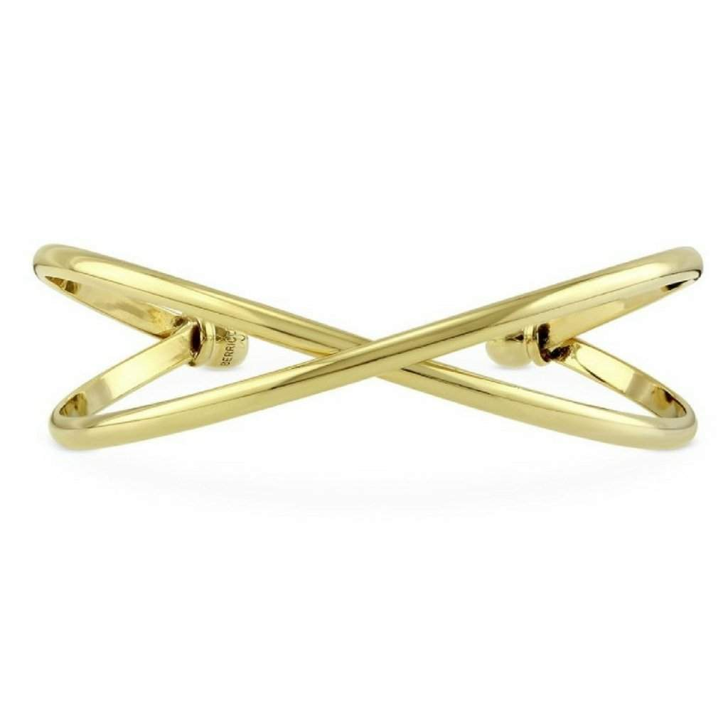 Gold Criss Cross Cuff Bracelet - JaeBee Jewelry
