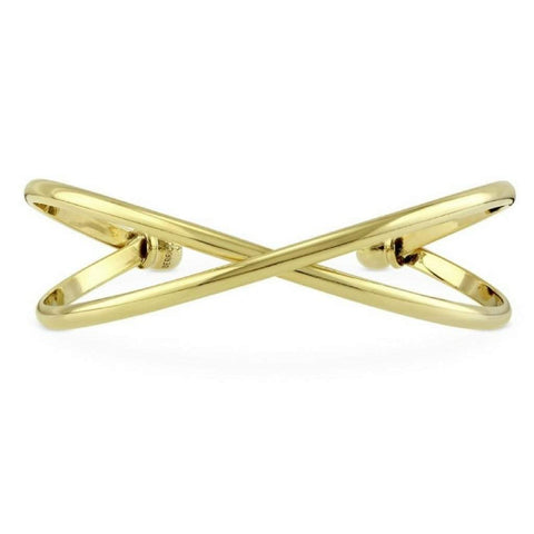 Gold Criss Cross Cuff Bracelet