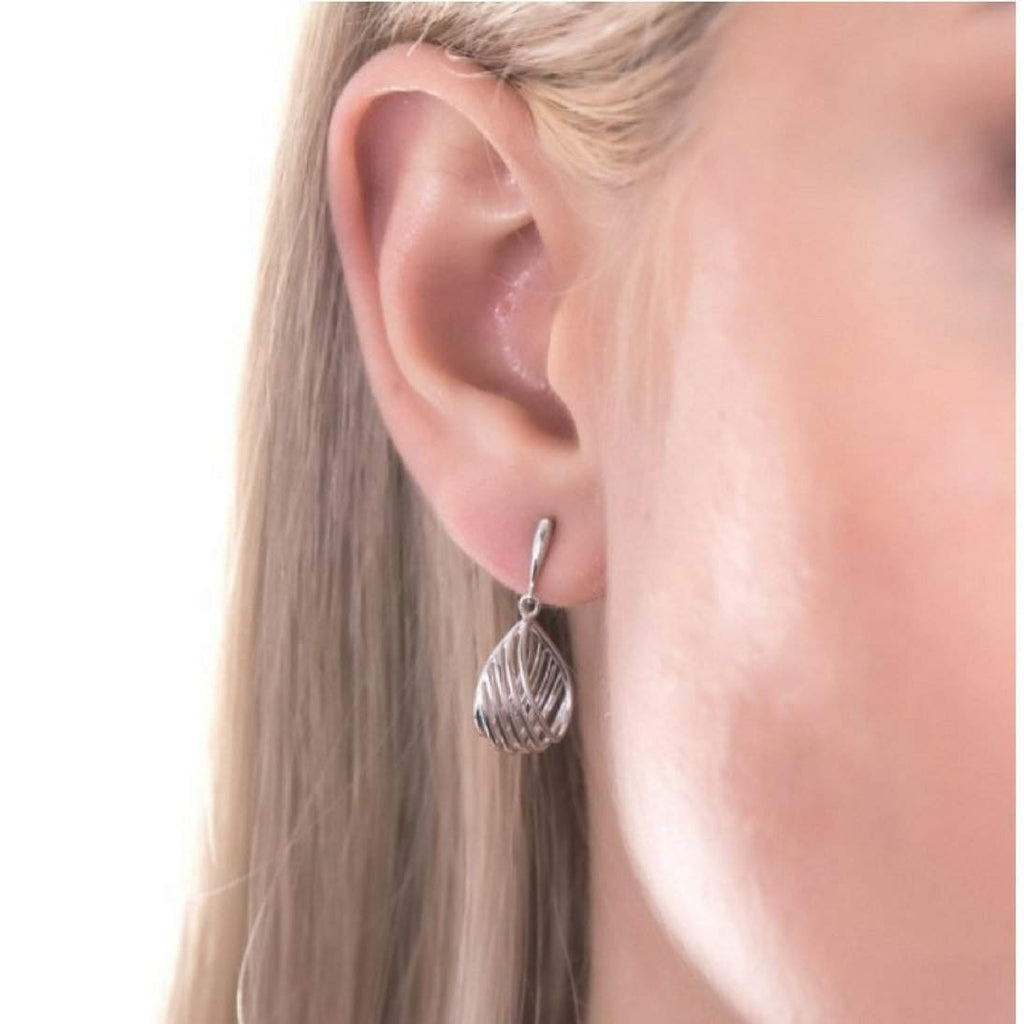 Sterling Silver Woven Oval Earrings - JaeBee Jewelry