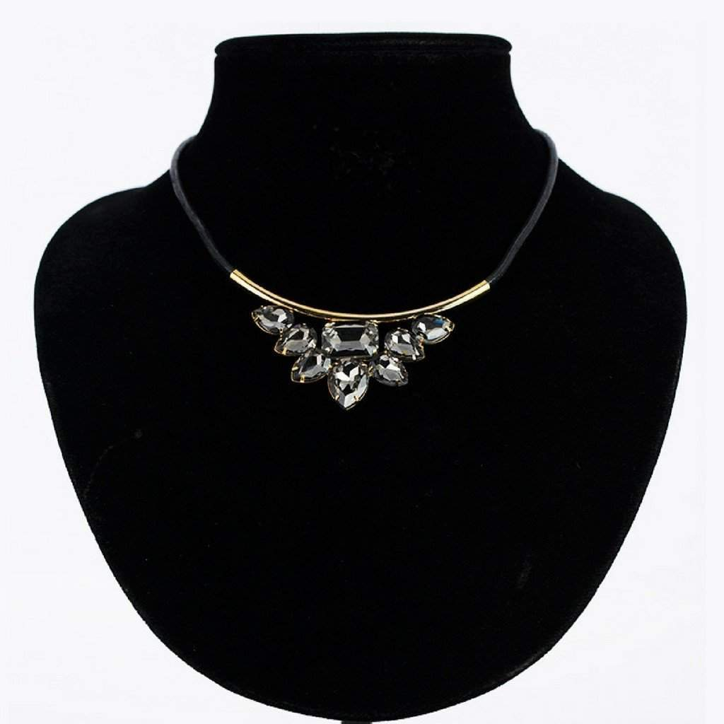 Mystic Black Stone Statement Collar Necklace - JaeBee Jewelry